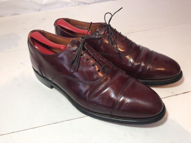 Bostonian burgundy leather captoe oxfords laced dress work shoes us mens sz  11 d
