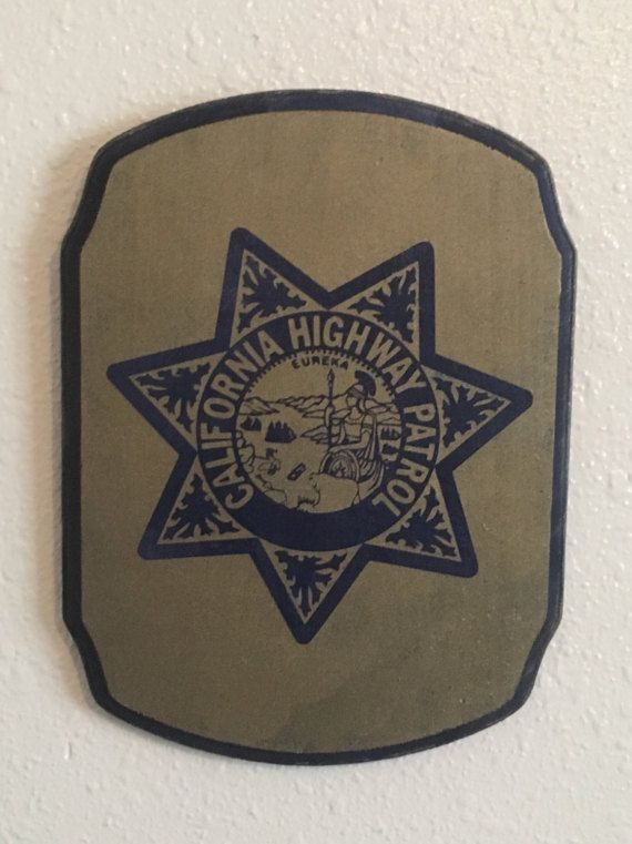 California Highway Patrol Wood Sign Home Decor Wall Art Blue Lives Matter Law Enforcement Badge Hanging Sign Police Officer Gift If you…