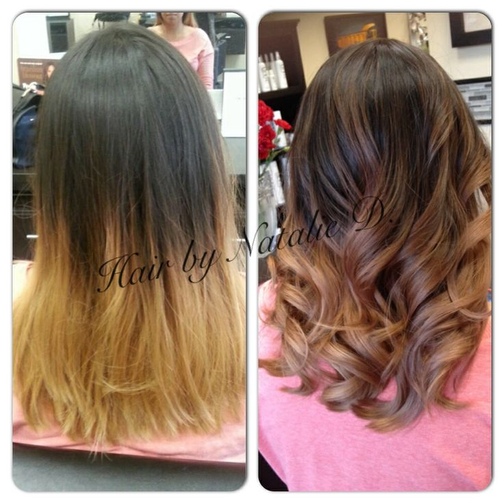 Before and after balayage hair | Hairstyle | Pinterest
