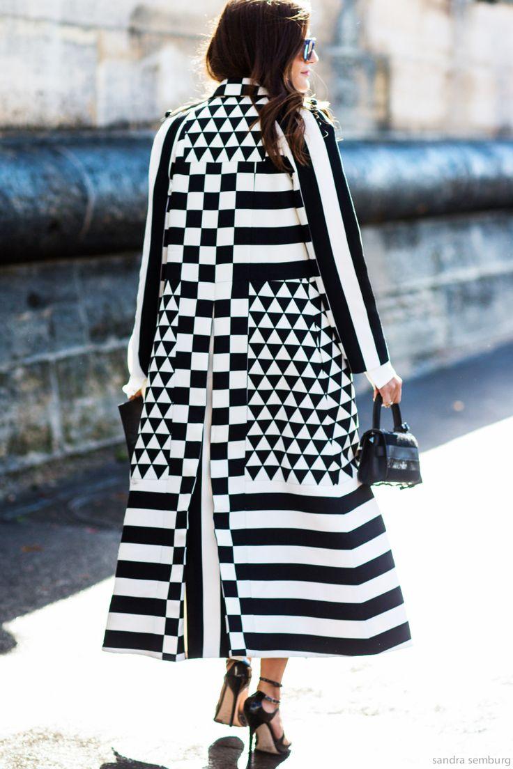 Amazing black and white coat