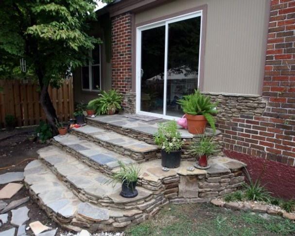 9 best outdoor steps images on pinterest for Sliding glass back door