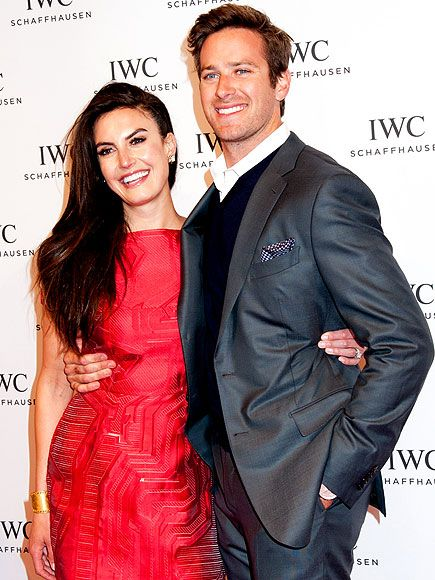 Star Tracks: Friday, April 18, 2014 | COUPLE OF LOVEBIRDS | Armie Hammer holds tight to wife Elizabeth Chambers Thursday ahead of the IWC Schaffhausen and Tribeca Film Festival's For Love of Cinema celebration in New York City.