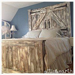 Barn Door Headboard and Footboard