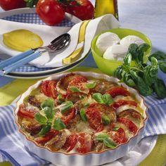 Tomate-Mozzarella-Gratin mit Schweinemedaillons Rezept