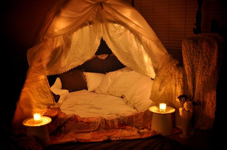 Romantic fort. How fun!