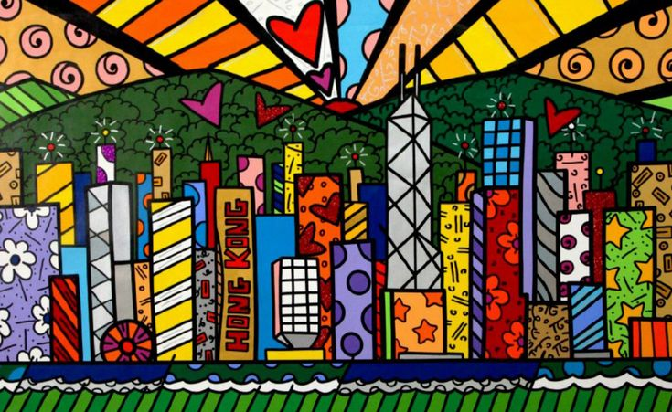 Good Morning Hong Kong  by Romero Britto, 2014