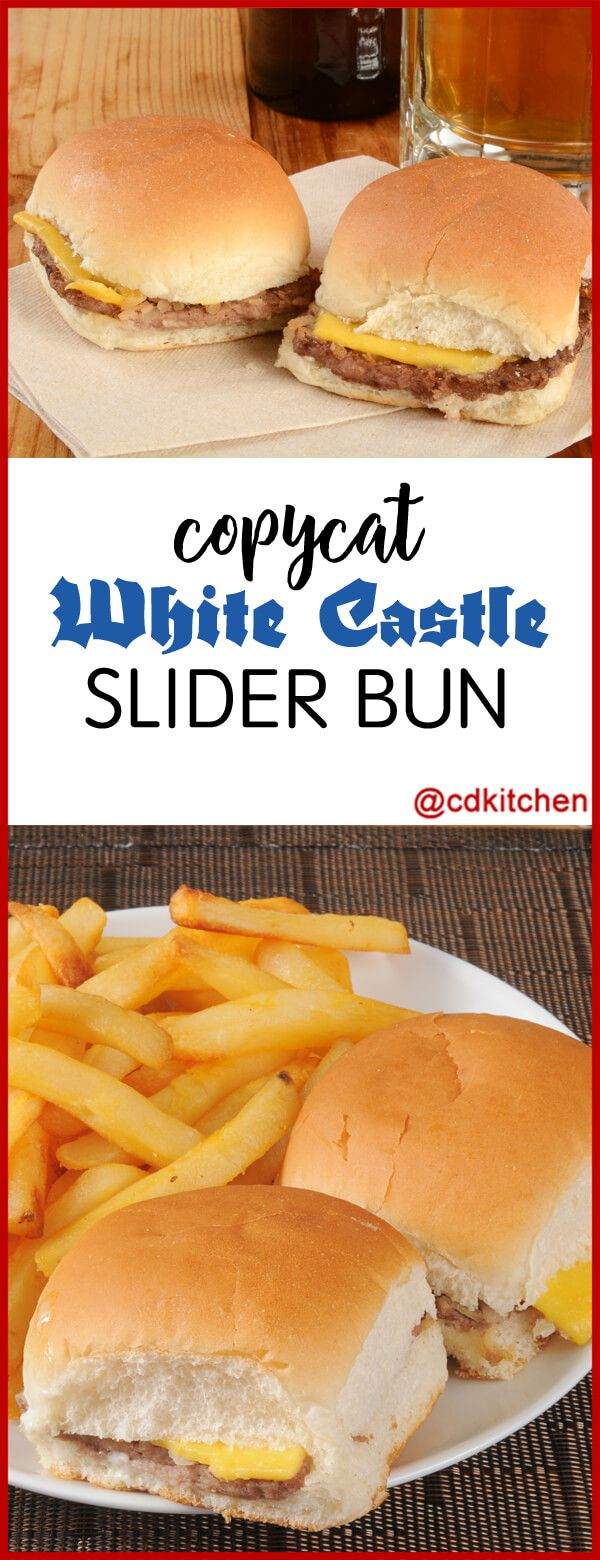 Copycat White Castle Slider Bun - Do you love the little buns they use at White Castle restaurants? This DIY version can be used for mini hamburgers or other slider-style recipes.  | CDKitchen.com