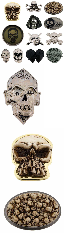 Belt Buckles 86647: 12 Pcs Wholesale Skulls Belt Buckles Manufacturer Usa Gothic Metal Fashion Mens -> BUY IT NOW ONLY: $31.51 on eBay!