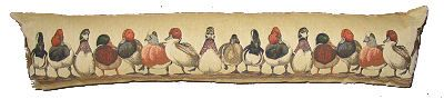 tapestry draught excluder ducks