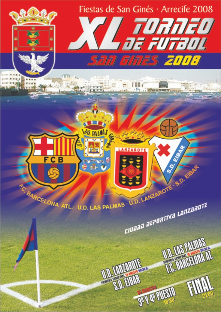 Cartel Torneo de Fútbol San Ginés 2008