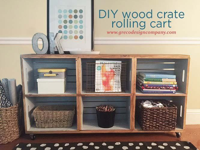 Next time you're at Michaels, grab a few crates and copy this woman's brilliant storage idea!