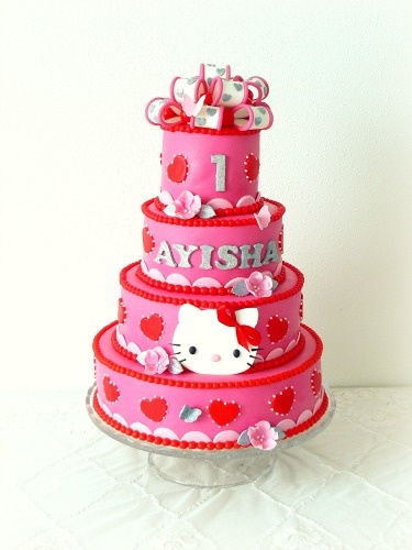 Children's Birthday Cakes - Hello Kitty birthday cake