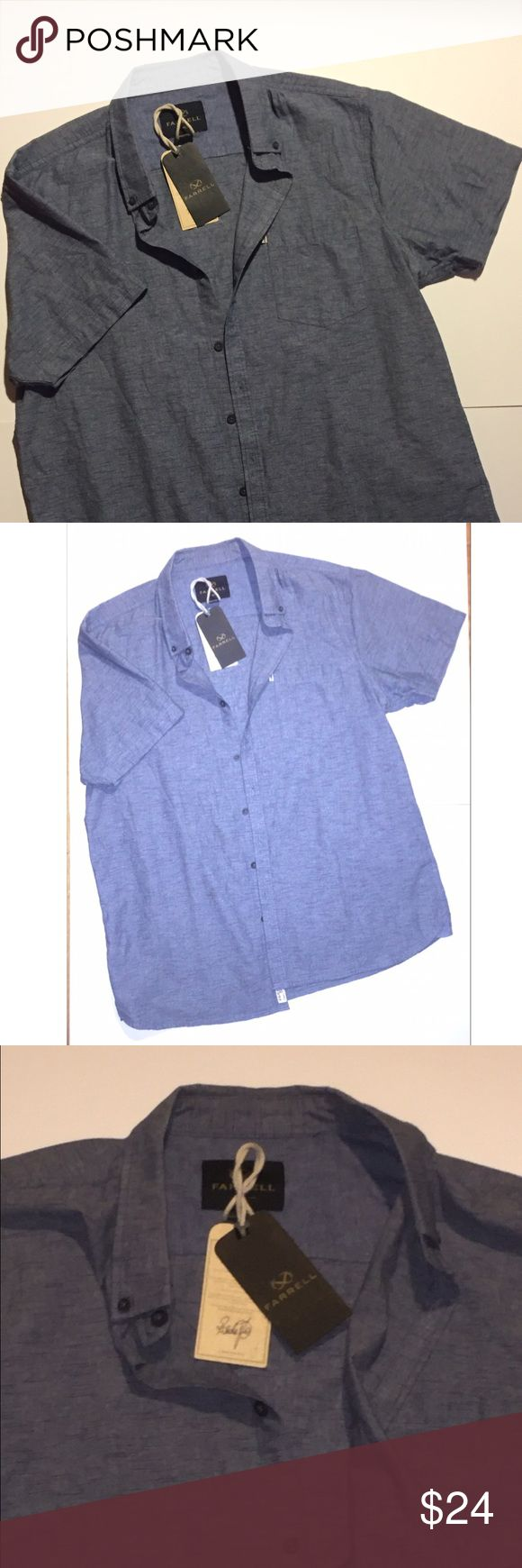 NWT Mens Short Sleeve Denim Button Down Shirt Mens short sleeve Denim style shirt. Has one pocket on the front and buttons down. Brand new and never used with tags. NWT Super stylish and on trend. Size XL, casual style. ✨✨✨ Bundle for excellent savings and free gift! ✨✨✨ Shirts Casual Button Down Shirts