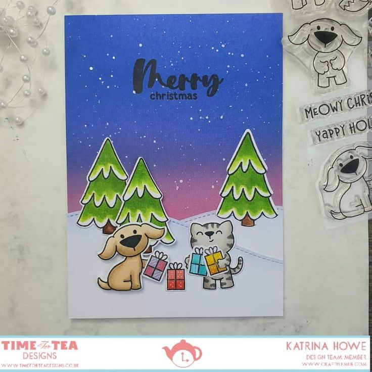 Pawsome Christmas Clear Stamp Set in 2020 Stamp set