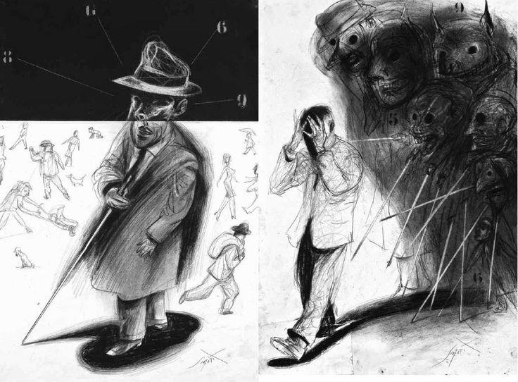El informe sobre ciegos (Libros del Zorro Rojo) de Ernesto Sábato, ilustrado por Luis Scafati.