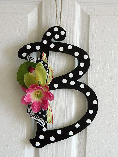 Wooden Letters for Door Decorations  Wall Letters  by BellaFrog, $25.00