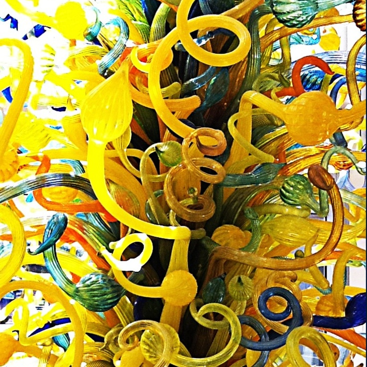 The Chihuly Tower at the OKC Museum of Art.  Photo by Cheryl Lidia, 2011.
