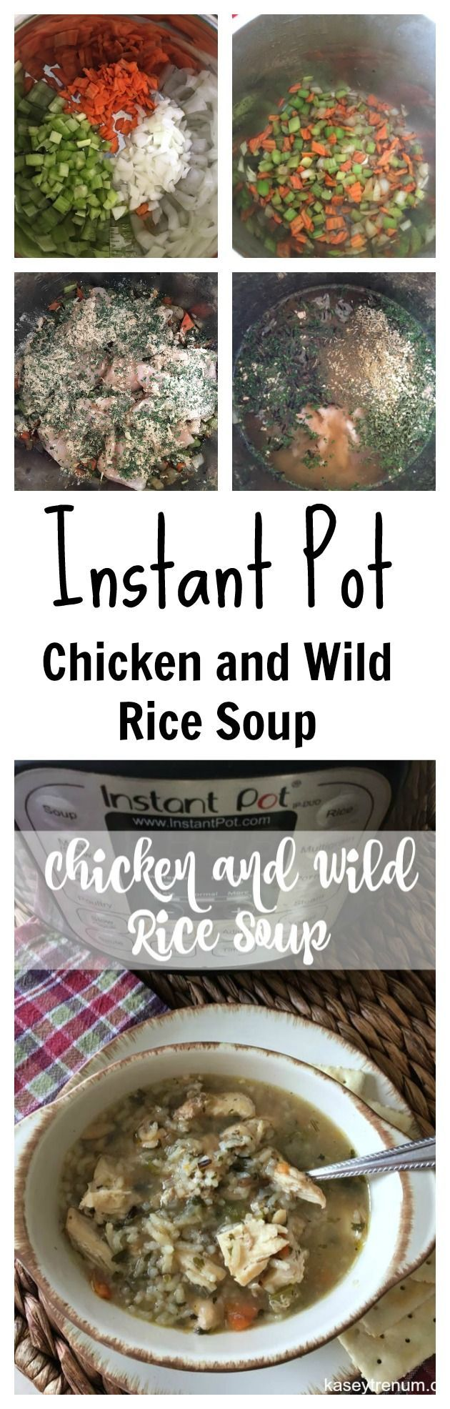 Instant Pot Chicken and Wild Rice Soup  Instant Pot / Soup / Easy Recipes / Healthy Recipes /