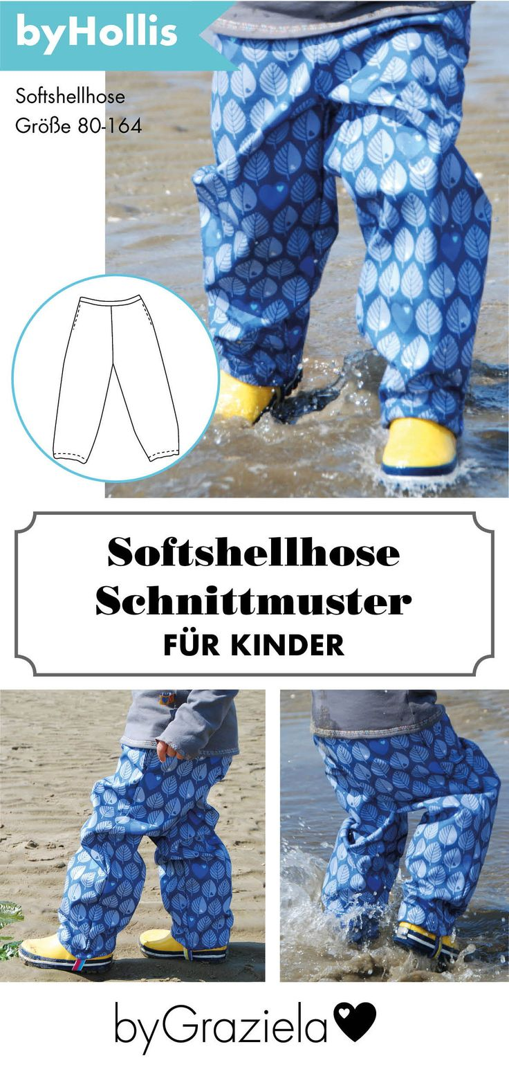 Pattern for softshell pants for kids. In no time finished with the …   – Nähen