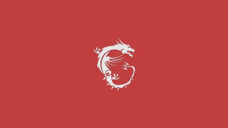Download MSi Dragon Logo Wallpaper Red Background 1920x1080