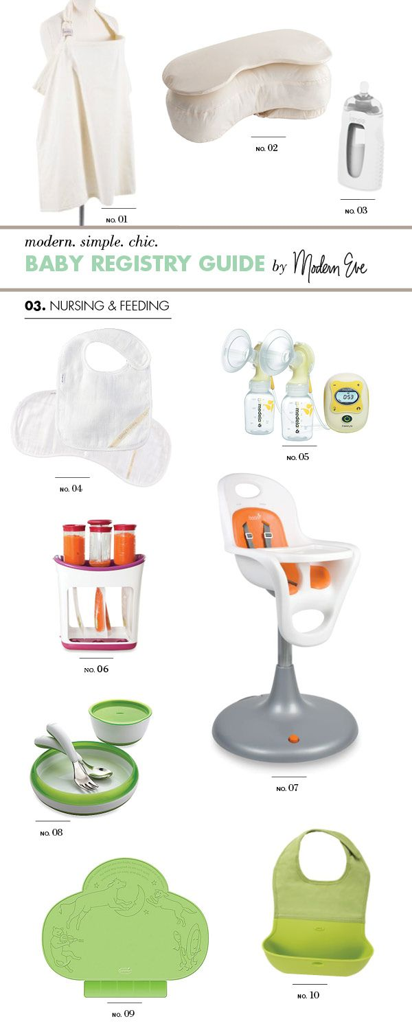 // Ultimate Baby Registry Gift Guide: (3 of 8) Nursing & Feeding by Modern Eve