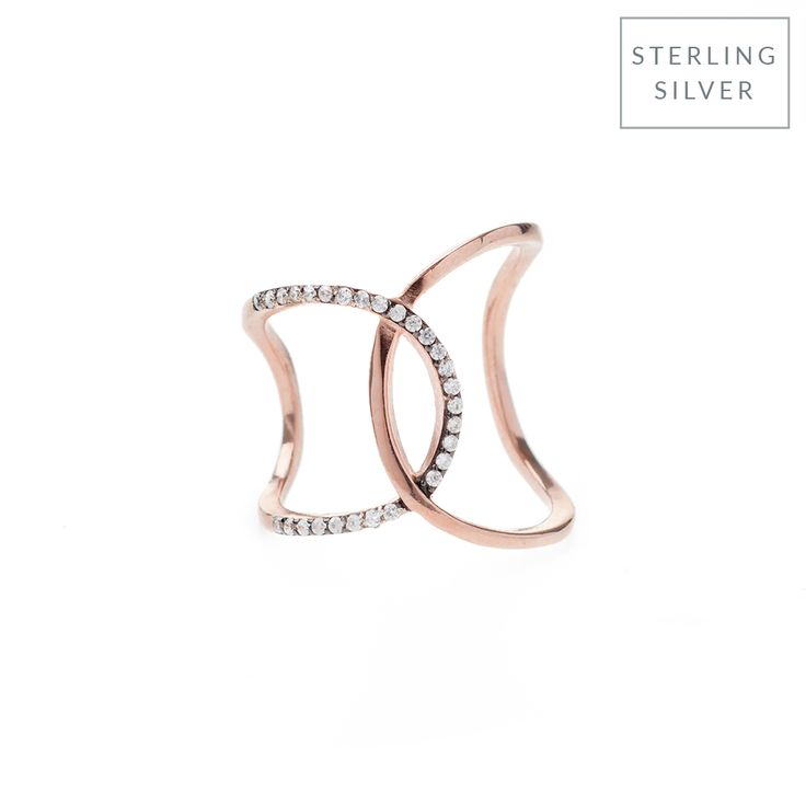 This dainty yet delicate ring features sparkling pavé stones and an elegant rose gold-tone setting. Made for wearing stacked with complementing designs, this piece lends on-trend polish to any look.