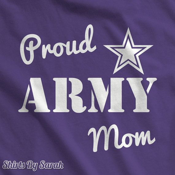 Proud Army Mom T Shirt - Military Support T-Shirts For Mothers Army Soldier Shirts Women's Tshirt