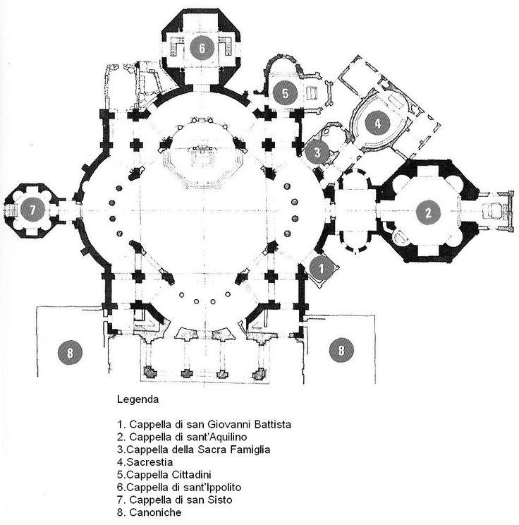 Pianta della Basilica di San Lorenzo Maggiore a Milano. http://milanoarte.net/it/visite-guidate-a-milano/tour-dei-navigli-e-della-milano-medievale
