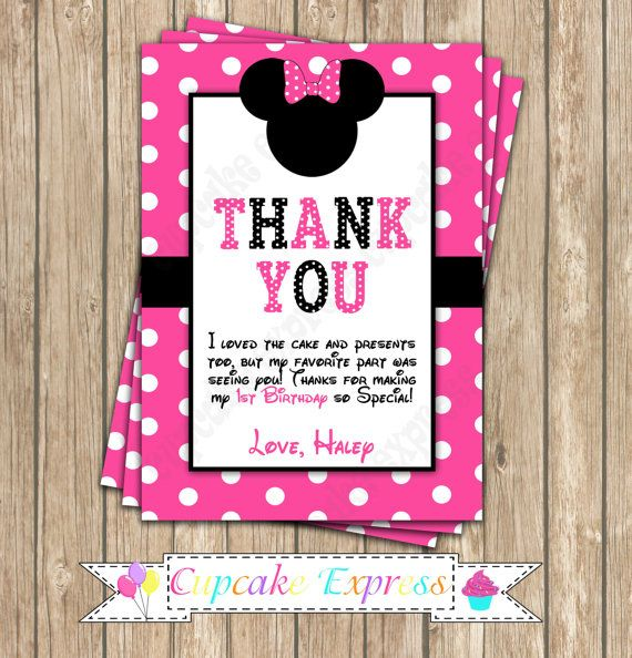 Minnie Mouse Pink PRINTABLE Birthday party by CupcakeExpress2