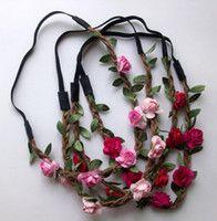 Commercio all'ingrosso - Sposa Boemia fascia del fiore Festival Wedding floreale ghirlanda dei capelli della fascia Headwear Accessori per capelli per le donne