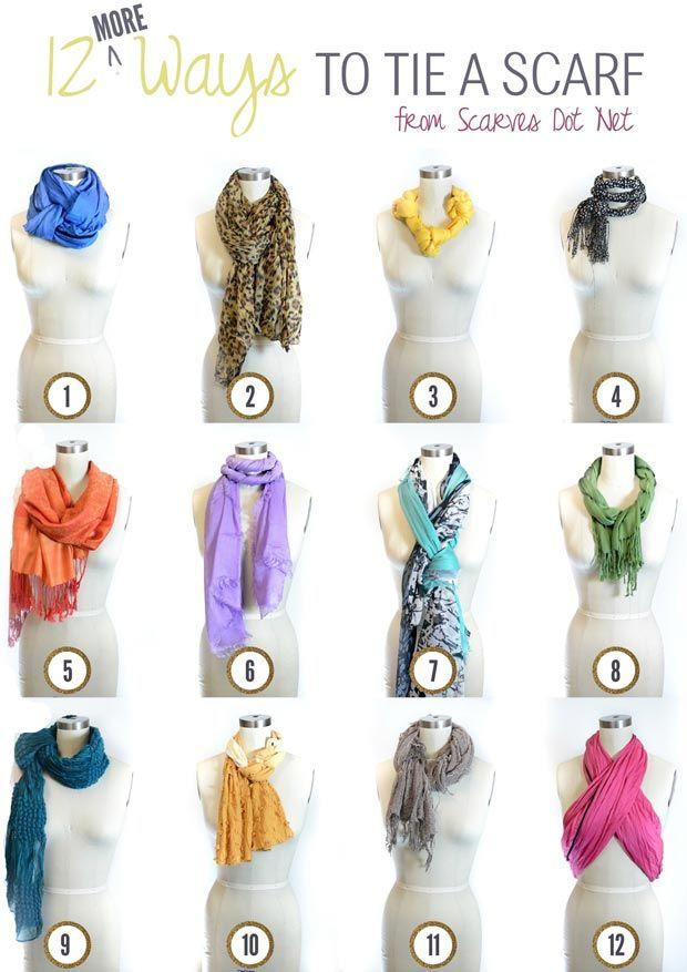 how to tie a scarf 12 fancy ways