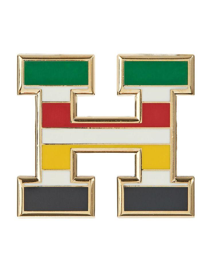 HBC Collections | I Heart Canada Multi Stripe H Pin | Hudson's Bay