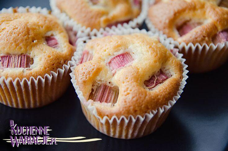 muffinki z rabarbarem   Bezglutenowe Kuchenne Wariacje