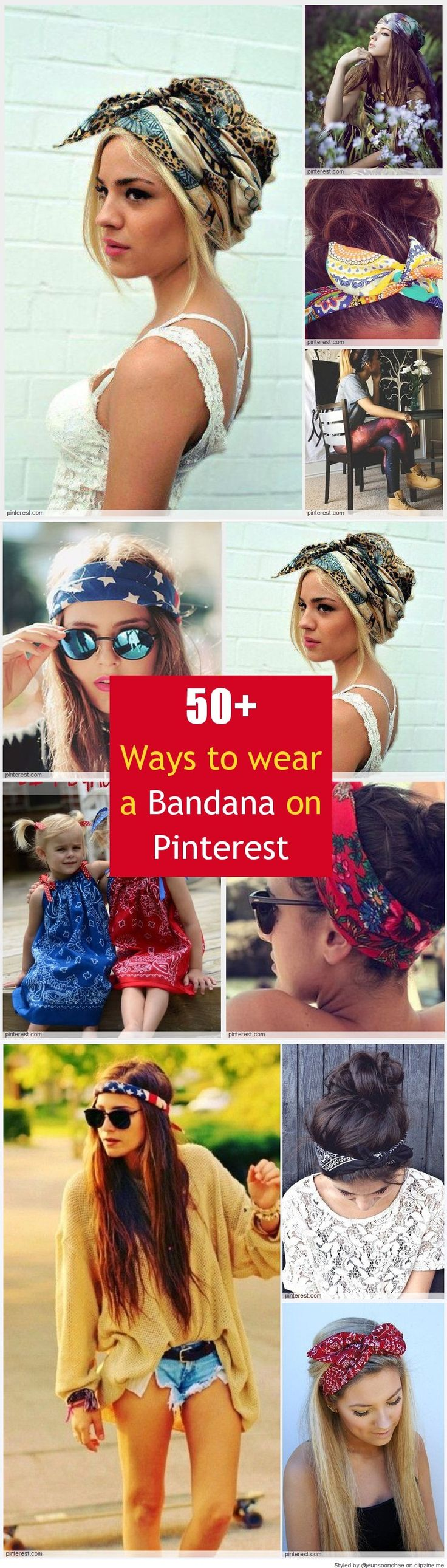 how to wear your hair up with a bandana
