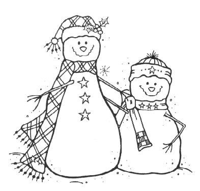 Snow Buddies Rubber Stamps