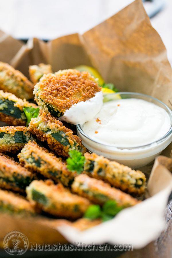 Crisp Zucchini Bites with Garlic Aioli Dip Recipe(you have to try these!) @natashaskitchen