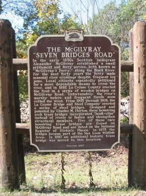 "The McGilvray ""Seven Bridges Road"" Marker Photo. One of My favorite songs of all time !"
