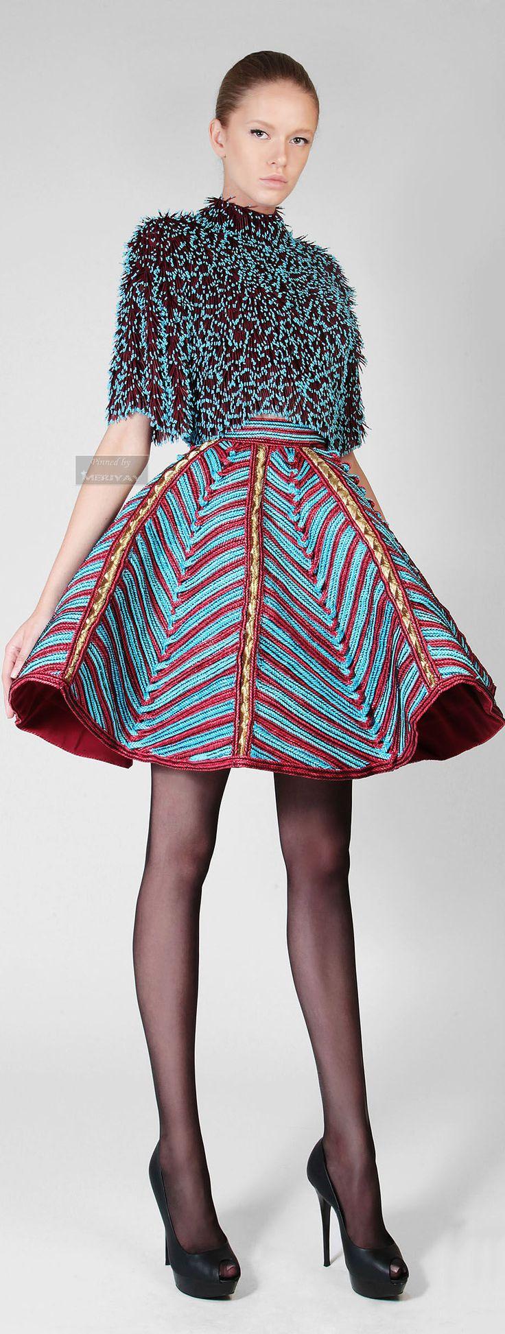 Rami Kadi - Just a great mix of texture. ~Latest African fashion, Ankara, kitenge, African women dresses, African prints, African men's fashion, Nigerian style, Ghanaian fashion ~DKK