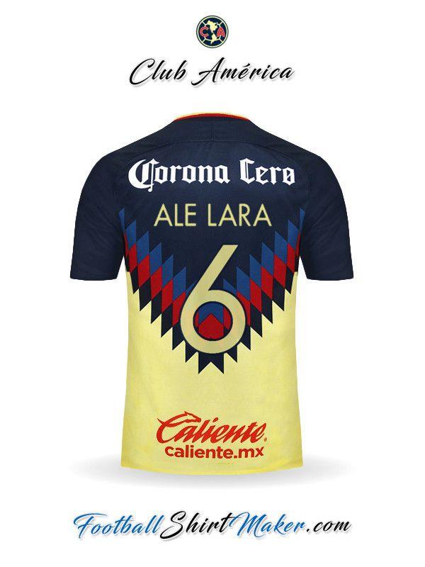 Camiseta Club America 2017 18 Ale lara 6  5f2293262dc35