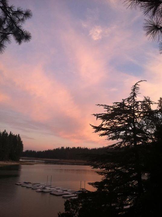 Bass Lake, California. Saturday night sunset. http://www.gsom.com/places