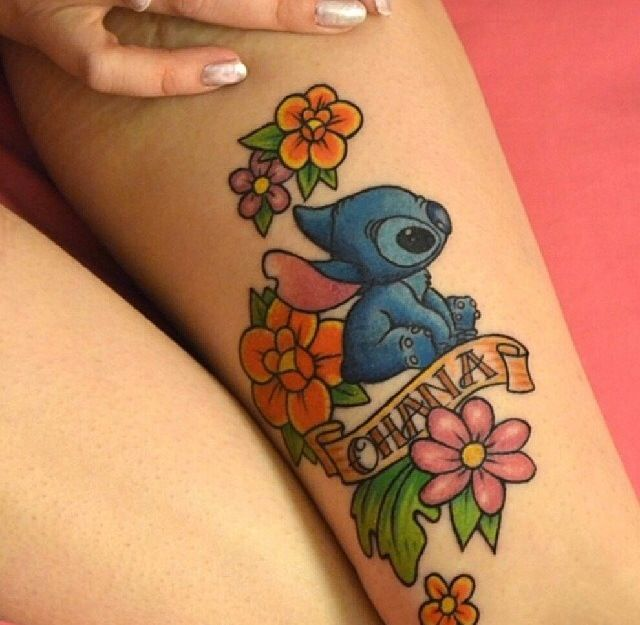 stitch flowers disney tattoos pinterest stitches tattoos and body art and flower. Black Bedroom Furniture Sets. Home Design Ideas