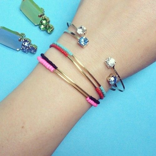 Cool and lovely bracelets by #caterinamariani #minniegrace #shoplaluce