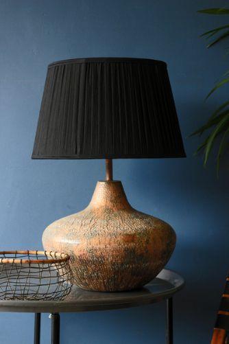Oxidised Copper Lamp Base