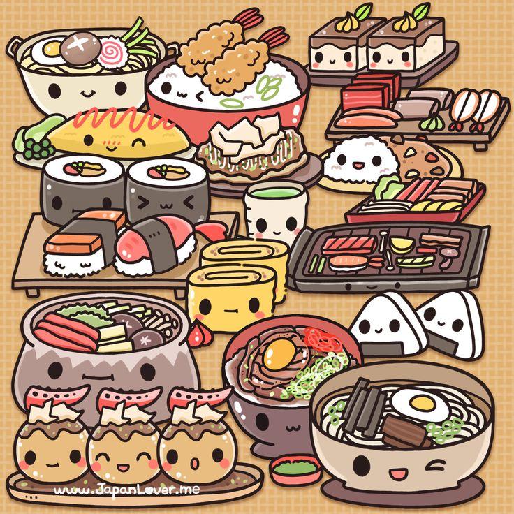 Фотки кавайных картинок еды