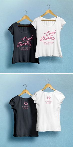 Woman T-Shirt MockUp Free PSD