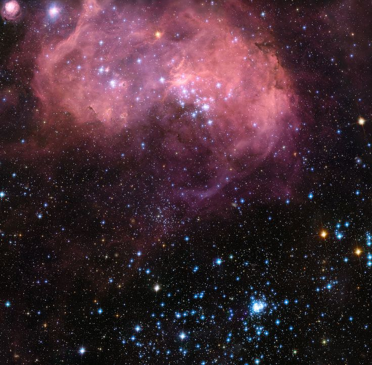 Hubble view of the huge star formation region N11 in the Large Magellanic Cloud