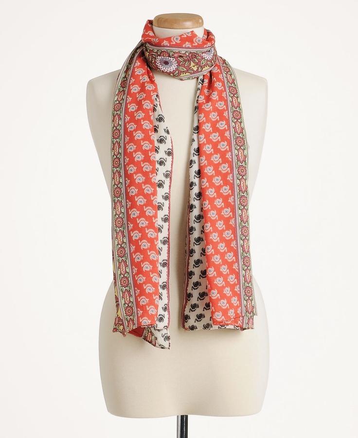 pretty persuasions floral border scarf www