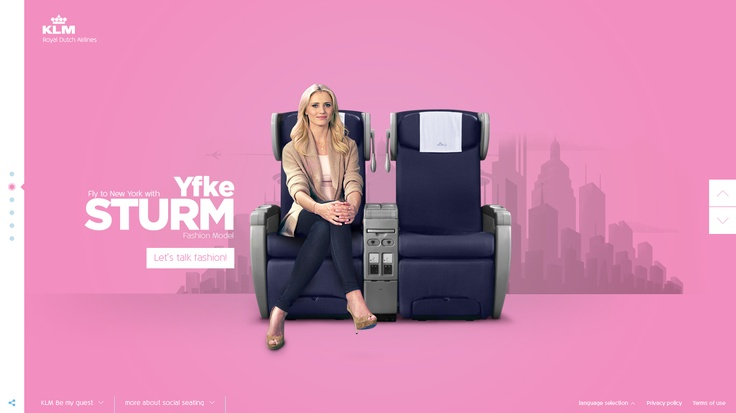 """KLM Meet & Seat lets people who booked a flight find interesting people aboard that same flight. Be My Guest was created by Tribal DDB and MediaMonks in order to supports this launch: have a """"virtual chat"""" with Dutch celebs and one may become your travel companion."""