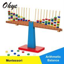 Wysoka Jakość Montessori Edukacyjne Drewniane Równowagi Gry Zabawki Dla Dzieci Puzzle Zabawki Dziecka Saldo Skali Ważenia WD41-44(China (Mainland))