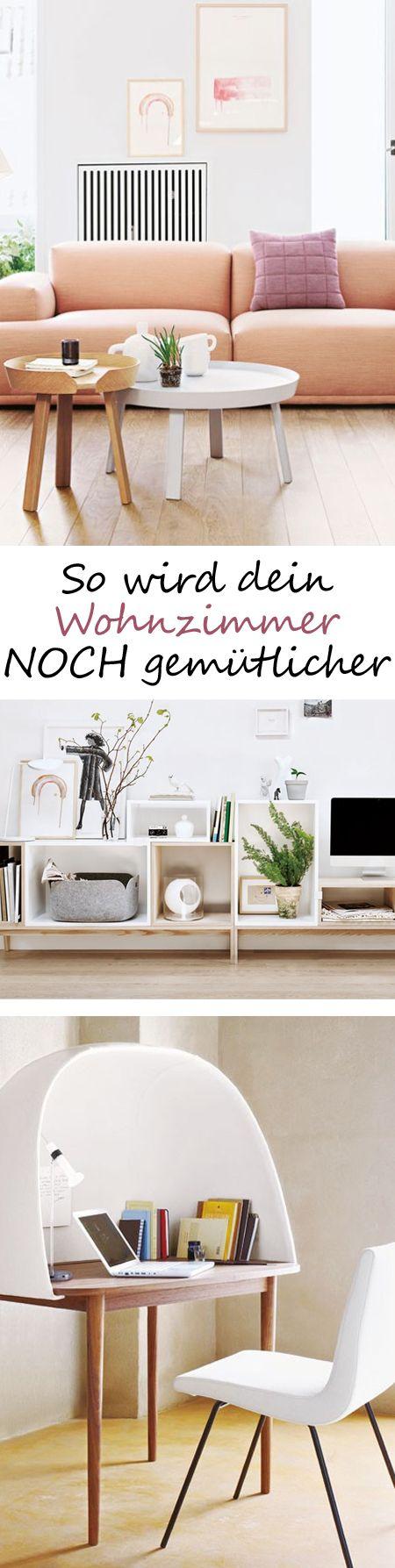 Mit ausgewählten modernen möbeln wird aus einem standard wohnzimmer ein richtiger wohlfühlraum alle